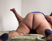 Bi couple, fat ass