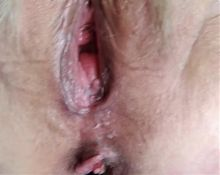 Bbw close-up of my gray-haired pussy!