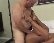 Older man with fat cock fucking woman